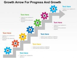 Growth Arrow For Progress And Growth Flat Powerpoint Design