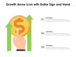Growth Arrow Icon With Dollar Sign And Hand