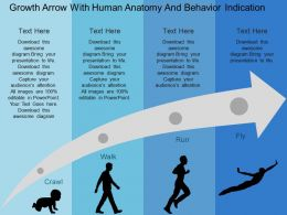 growth_arrow_with_human_anatomy_and_behavior_indication_flat_powerpoint_design_Slide01