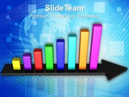 Growth bar and line graphs powerpoint templates success ppt slides