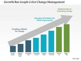 Growth Bar Graph Color Change Management Flat Powerpoint Design