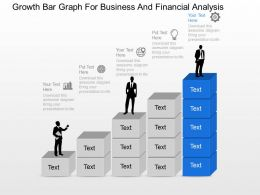 Growth Bar Graph For Business And Financial Analysis Powerpoint Template Slide