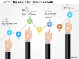 Growth Bar Graph For Business Growth Flat Powerpoint Design