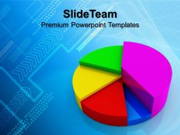 Growth bar graphs and pictographs templates pie chart finance business image ppt design Powerpoint