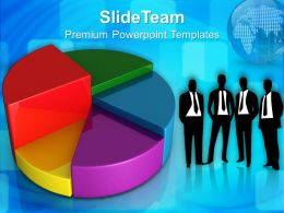 Growth bar graphs and pictographs templates pie chart marketing business ppt process Powerpoint