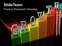 Growth bar graphs maker powerpoint templates concept business ppt process