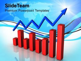 Growth bar graphs maker powerpoint templates progress success ppt themes