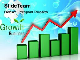 Growth bar graphs maker templates business success company ppt backgrounds Powerpoint