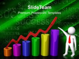 Growth Bar Graphs Powerpoint Templates Pointing Success Future Ppt Slide