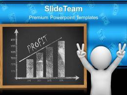 Growth bar graphs powerpoint templates profit chart success ppt slide