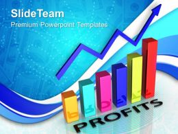 Growth bar graphs powerpoint templates profits chart success ppt process