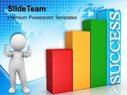 Growth blank bar graphs powerpoint templates success global ppt process