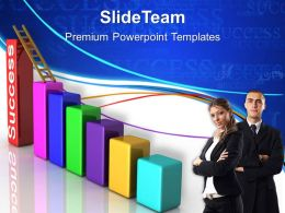Growth business bar graphs powerpoint templates ladder to success ppt designs