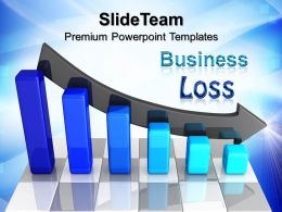 Growth business bar graphs powerpoint templates loss chart company ppt