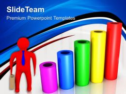 Growth business cycle graphs powerpoint templates cylinder bar ppt layout