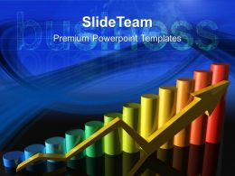 Growth business cycle graphs templates colorful bar ppt backgrounds Powerpoint