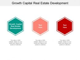 Growth Capital Real Estate Development Ppt Powerpoint Presentation Icon Topics Cpb