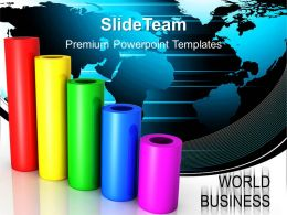 Growth create bar graphs powerpoint templates world business success ppt process