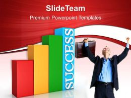 Growth creating bar graphs excel person achieved success business ppt slides Powerpoint