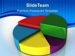 Growth creating bar graphs excel pie chart business teamwork ppt presentation designs Powerpoint