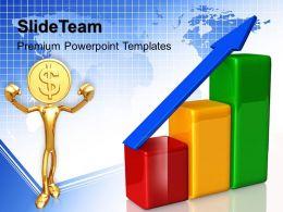 Growth creative bar graphs templates global business finance ppt slide Powerpoint