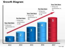 Growth Diagram PowerPoint Template PowerPoint Template Slide
