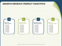 Growth Driver 1 Perfect Your Pitch Unique Ppt Powerpoint Presentation Smartart
