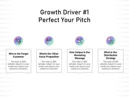 Growth Driver 1 Perfect Your Pitch Value Proposition Ppt Powerpoint Presentation Graphics