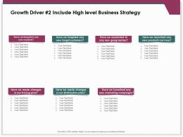 Growth Driver 2 Include High Level Business Strategy Distribution Plan Ppt Presentation Styles