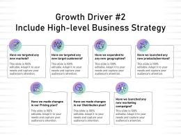 Growth Driver 2 Include High Level Business Strategy Geographies Ppt Presentation Layout