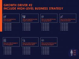 Growth Driver 2 Include High Level Business Strategy