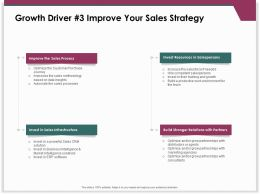 Growth Driver 3 Improve Your Sales Strategy Infrastructure Ppt Powerpoint Presentation Slide