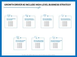 Growth Driver Include High Level Business Strategy Made Changes Ppt Powerpoint Presentation Good