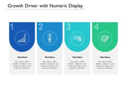 Growth Driver With Numeric Display