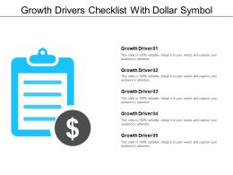 Growth Drivers Checklist With Dollar Symbol