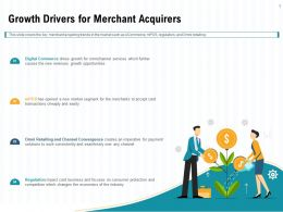 Growth Drivers For Merchant Acquirers Card Ppt Powerpoint Presentation Show Layout