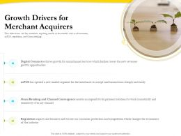 Growth Drivers For Merchant Acquirers Ppt Gallery Inspiration