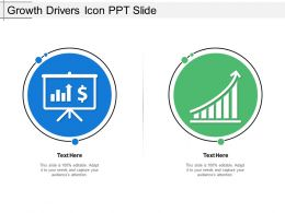 Growth Drivers Icon Ppt Slide