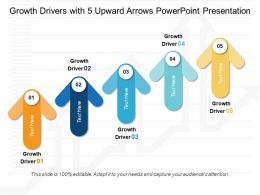 Growth Drivers With 5 Upward Arrows Powerpoint Presentation