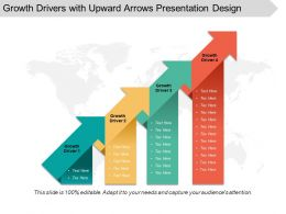 Growth Drivers With Upward Arrows Presentation Design