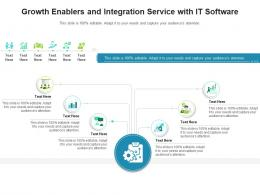 Growth Enablers And Integration Service With It Software Infographic Template
