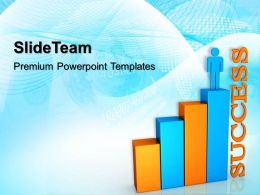 Growth examples of bar graphs templates with person01 success ppt themes Powerpoint