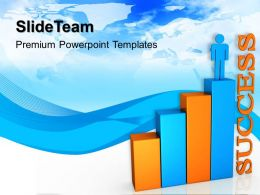 Growth examples of bar graphs with person success business ppt slides Powerpoint