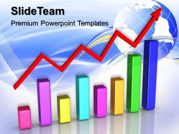 Growth Examples Of Double Bar Graphs And Red Arrow Business Ppt Process Powerpoint