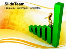 Growth graphs in business powerpoint templates income finance diagram ppt slides