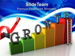 Growth graphs in business powerpoint templates stairs success chart ppt