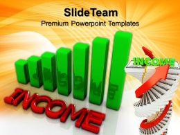 Growth Graphs In Business Templates Income Teamwork Ppt Powerpoint
