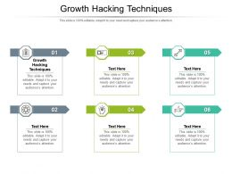Growth Hacking Techniques Ppt Powerpoint Presentation Model Display Cpb