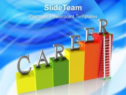Growth histograms and bar graphs powerpoint templates career ladder future ppt process