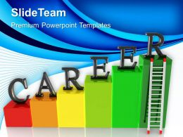 Growth histograms and bar graphs powerpoint templates career ladder success ppt desings